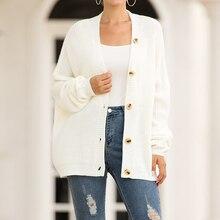 Cardigan single row button cardigan sweater women's cardigan Single-breasted cardigan jones cardigan