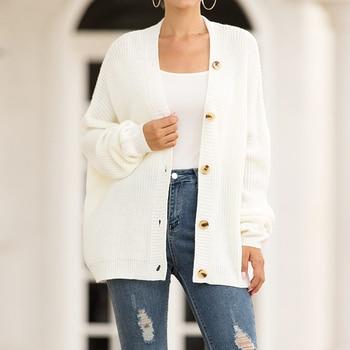 Cardigan single row button cardigan sweater women's cardigan Single-breasted cardigan 1701500 83