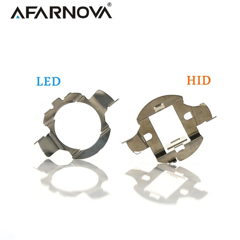 2x H7 LED Car Headlight Bulb Base Holder Adapter Socket H7 HID Headlight Xenon Bulb Holder Retainer Headlamp Socket Metal