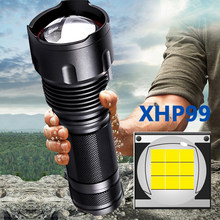 Xhp99 9-Kern Hochwertige LED-Taschenlampe Super Bright 18650 26650 AA Batterie-Taschenlampe XHP50 XM-L2 U3 T6 Zoombare Aluminiumlaterne