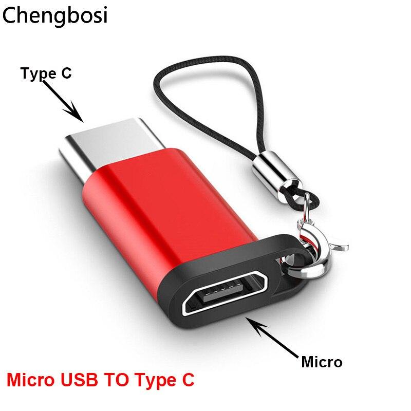 Алюминиевый сплав Micro USB-Type C адаптер конвертер Разъем для телефона планшета с ремешком аксессуары для телефона для Xiaomi