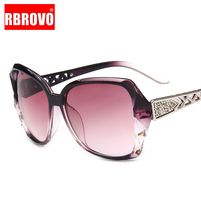 RBROVO 2018 Vintage Big Frame Sunglasses Women Brand Designer Gradient Lens Driving Sun Glasses UV400 Oculos De Sol Feminino