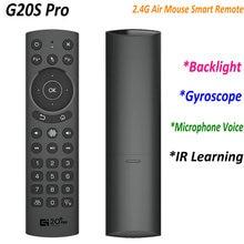 G20S פרו קול תאורה אחורית חכם אוויר עכבר גירוסקופ IR למידה Google קול עבור אנדרואיד טלוויזיה חכמה תיבת PK G30S G50S שלט רחוק