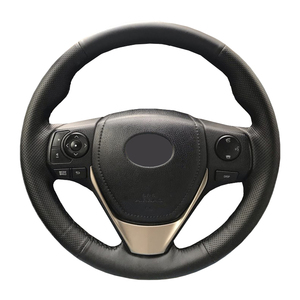 Image 1 - Trenzado de cuero Artificial para volante de coche, funda de dirección personalizada para Toyota RAV4 2013 2018 Toyota Corolla 2003 2015 Scion