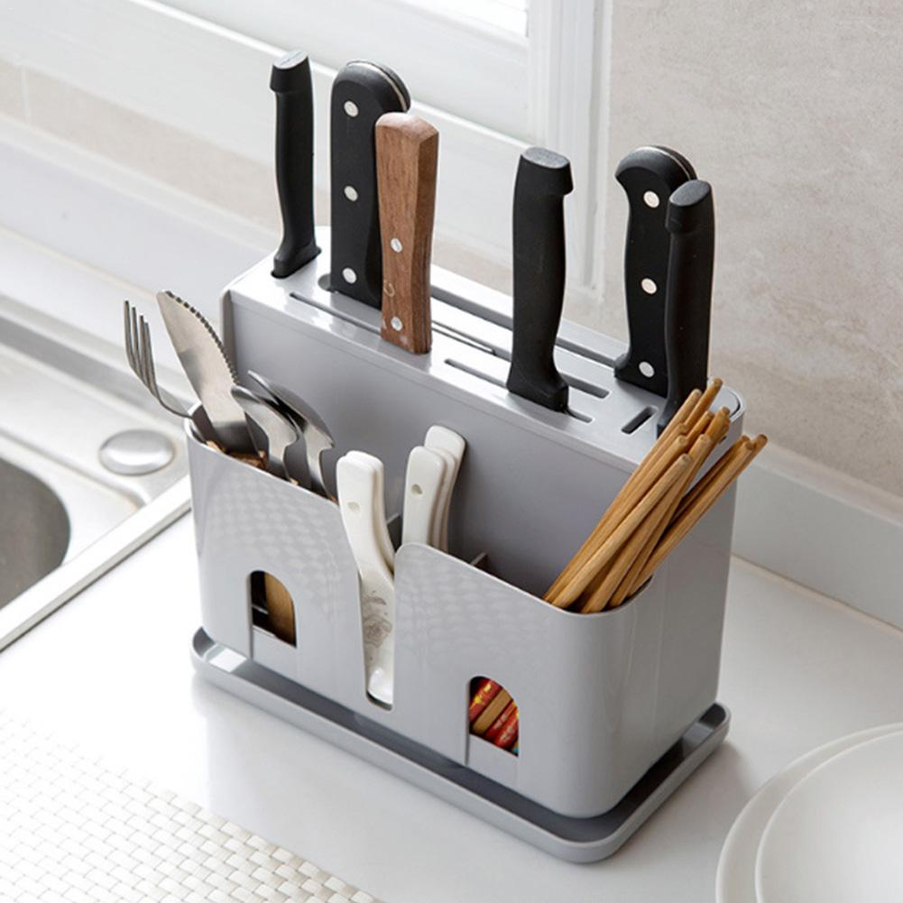 Permalink to Cutlery Storage Organizer Kitchen Tool Multifunctional Chopsticks Knife Fork Utensil Holder Kitchen Cabinet Storage Rack