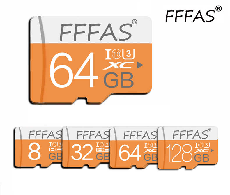 Haute vitesse classe 10 coloré micro carte sd 8GB 16GB 32GB 64GB 128GB carte mémoire Microsd SD usb flash pour Smartphone