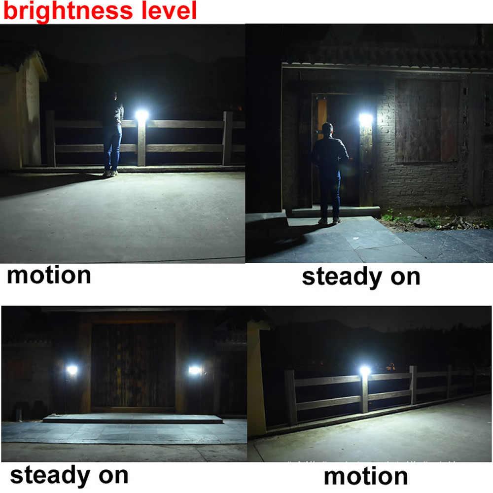 รีโมทคอนโทรลโคมไฟพลังงานแสงอาทิตย์โคมไฟมนุษย์ Induction Street Spot Flood Wall LIGHT 3 โหมดลานสวนกลางแจ้งกันน้ำ