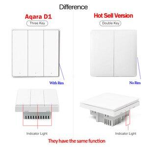 Image 2 - Настенный выключатель Xiaomi Aqara D1 ZigBee, выключатель с дистанционным управлением для умного освещения, с нулевой линией, подключение FireWire, без нейтрального провода, с 3 клавишами, MI Home