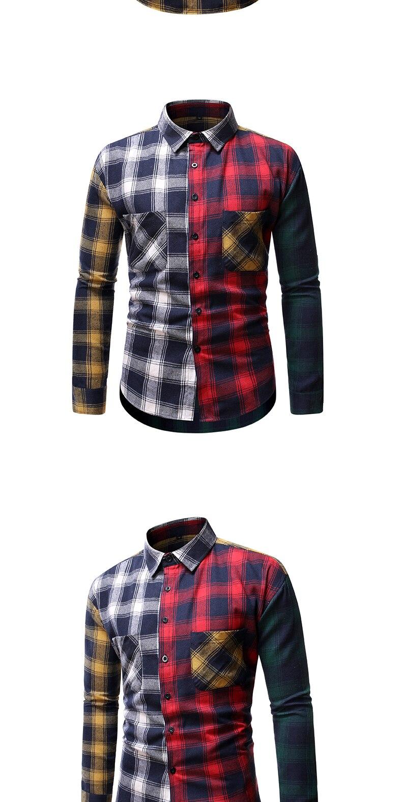 camisa de algodão dos homens da forma