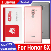 Original Hohe qualität Zurück Gehäuse Ersatz forHuawei Ehre 6X Zurück Abdeckung Batterie Glas Für Huawei Honor 6X Hintere abdeckung
