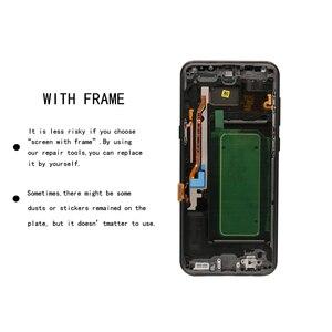 Image 2 - Orijinal S8plus ekran SAMSUNG Galaxy S8 artı ekran yedek LCD dokunmatik Digitizer meclisi G955 G955F çerçeve ile