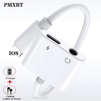 Для Lightning до 3,5 мм 2 в 1 аудио адаптер для наушников для iPhone 7 8 plus X XS Кабель зарядного устройства для мобильного телефона Aux двойной разъем разв...