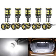10pcs T10 W5W Led Car Canbus Light Bulbs For BMW E46 F20 F30 X3 X4 X5 X6 Z1 Z4 Z3 M3 Interior Reading Parking Lights No Error