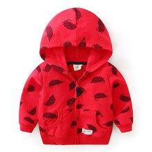 Куртка с капюшоном для малышей Новинка осени года, Детский Повседневный кардиган на молнии для мальчиков, рубашка wt-7265