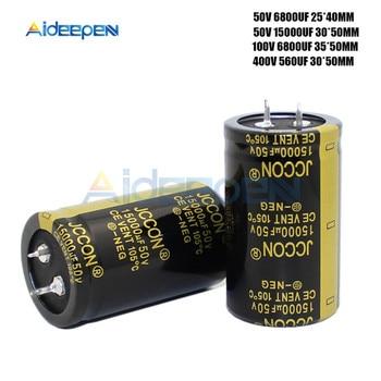 50V 100V 400V אלומיניום אלקטרוליטי קבלים גבוהה תדר נמוך עכבת 560UF 6800UF 15000UF
