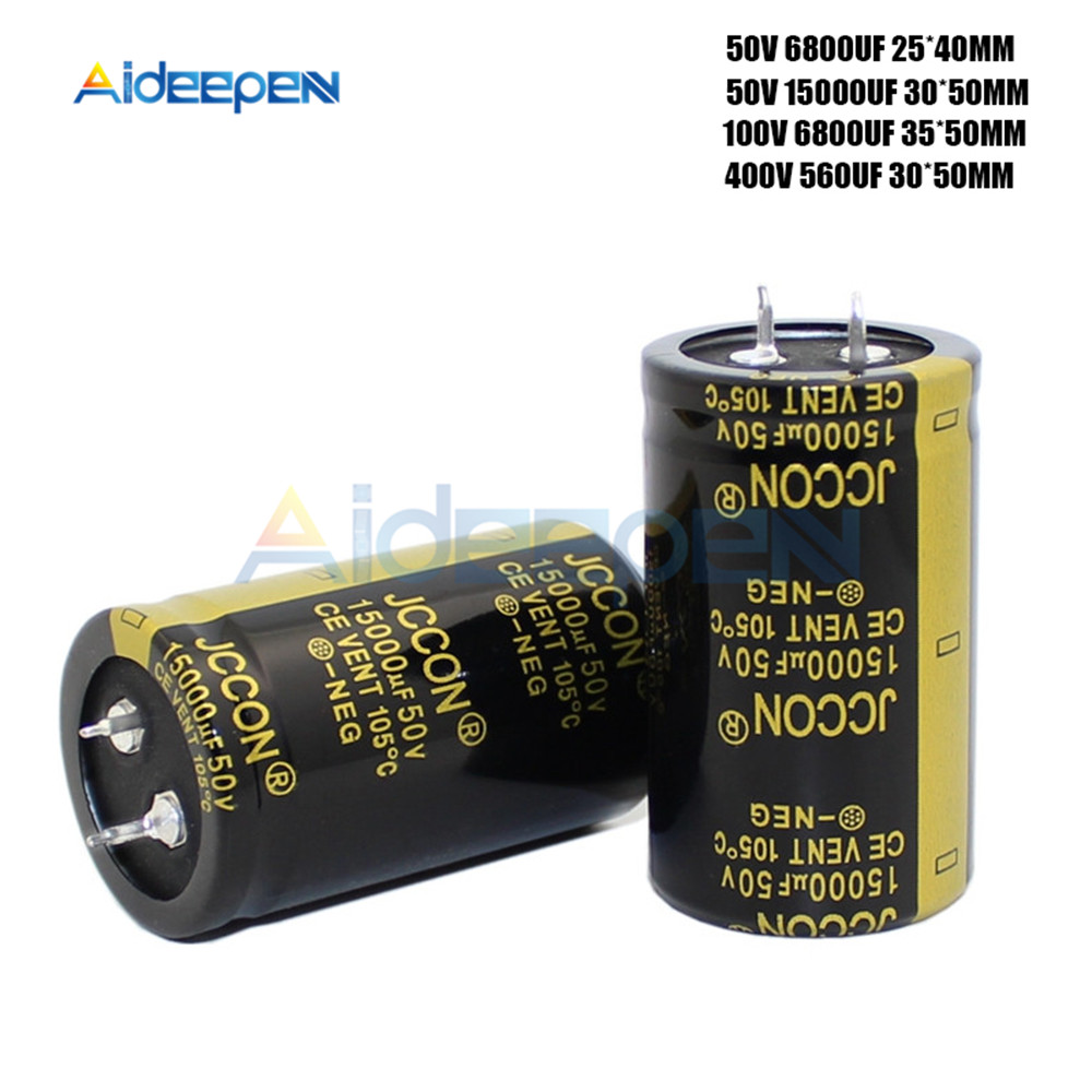 50V 100V 400V Aluminum Electrolytic Capacitor High Frequency Low Impedance 560UF 6800UF 15000UF