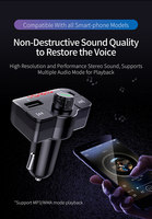 fm tf Car Charger with FM Transmitter Bluetooth Receiver Audio MP3 Player TF Card U-disk Car Kit Dual USB Car Phone Fast Charger (2)