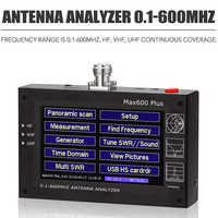 Analysator Max600 Plus HF/VHF/UHF Antenne 0,1-600 mhz com/4,3 tft lcd vs mini 600 Touch Screen USB oder Interne Lithium-ionen