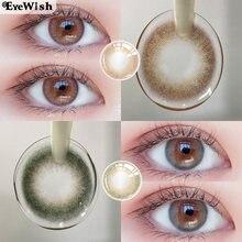 EYEWISH-2pcs/pair lentes de contato bonitas lentes coloridas para o uso anual natural da pupila da lente da cor dos olhos (diâmetro: 14mm)