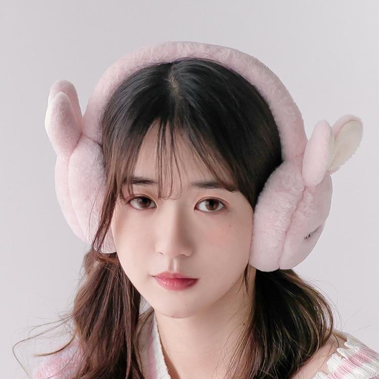 MIARA.L Korean Version Of Lady Earmuffs Cute Cartoon Student Earbags To Keep Warm Ears Warm And Cold Adult Earmuffs