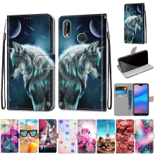 Leather Case for Coque Huawei P20 Lite Case Flip Cover Wallet Phone Case for Etui Huawei P20 P30 Pro Lite Nova 3E 4E Case Women cheap YY-Ngup Animal unicorn Floral cartoon Flip Case Fashion new 3D painted pattern PU leather case Dirt-resistant Anti-knock