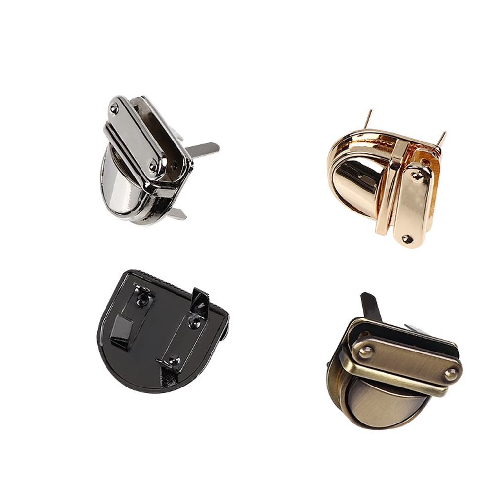 1Pc Practical Metal Clasp Turn Lock DIY Craft Handbag Purse Twist Lock Hardware Closure Durable Bag Parts Accessories 4 Color