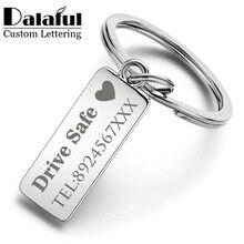 Llavero grabado personalizado para coche, Logo, nombre, acero inoxidable, regalo personalizado, llavero antipérdida personalizado, llavero con anilla P009