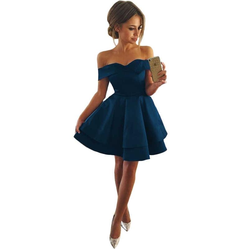 Короткие платья для выпускного вечера Платья особых случаев сатиновое вечернее