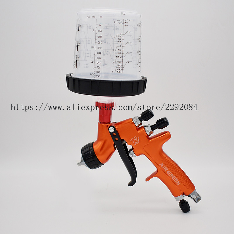 Tools : Professional Pneumatic Paint Spray Gun TE HVLP 1 3mm nozzle for Automotive Repair Painting
