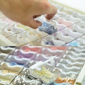 Image 2 - Huacan 새로운 다이아몬드 페인팅 스토리지 박스 액세서리 5d DIY 다이아몬드 자수 모자이크 도구