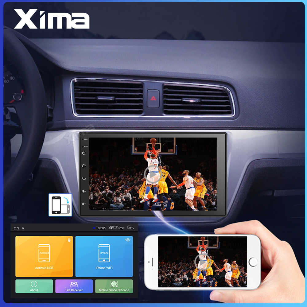Android 8,1 2 Din 7 pulgadas ROM32G Universal Radio de coche GPS de navegación Multimedia reproductor de Dvd para Toyota Nissan Kia VW Hyundai Ford