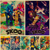 Плакат с аниме SK8 бесконечностью, украшение для дома, настенные наклейки, винтажные постеры из крафт-бумаги, мультяшное искусство, живопись