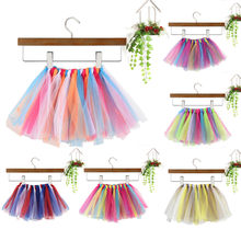 New Baby Girls Colorful Tutu Skirt Children'S Dance Color Matching Mesh Hand-Woven Tutu Skirt Children Clothing #L5(China)