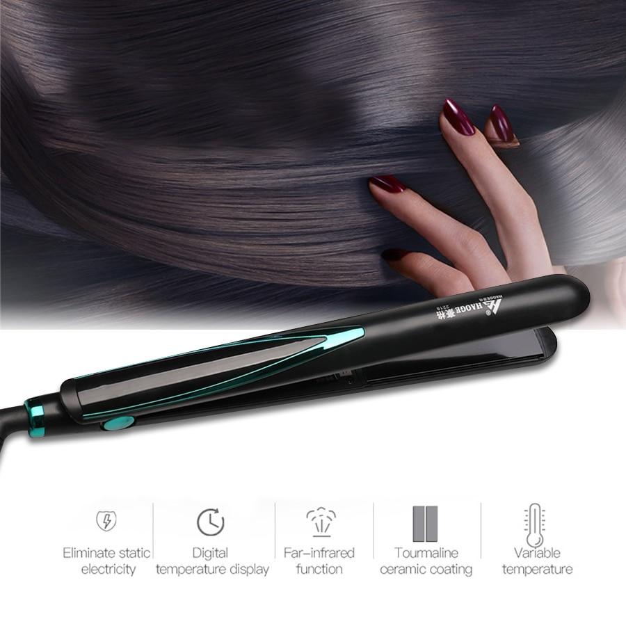 Hair Straughtener Fast Warm-up Flat Iron Negative Ion Ceramic Tourmaline Ionic Hair Straighten Curling iron Corrugation