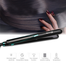 Hair Straughtener Fast Warm-up Flat Iron Negative Ion Ceramic Tourmaline Ionic