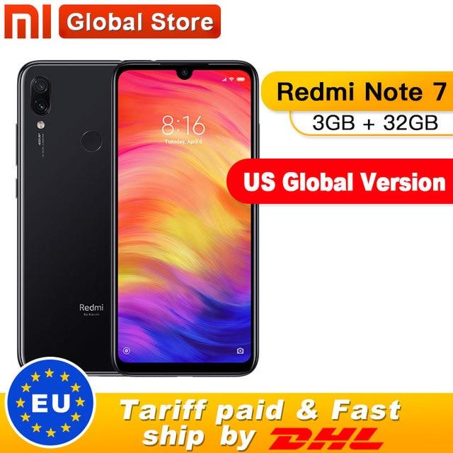 """Nosotros versión Global Xiaomi Redmi Note 7 3GB 32GB teléfono inteligente Snapdragon 660 Octa Core 4000mAh 6,3 """"2340x1080 48 + 13MP teléfono"""