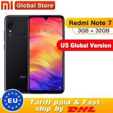 "Version mondiale américaine Xiaomi Redmi Note 7 3GB 32GB Smartphone Snapdragon 660 Octa Core 4000mAh 6.3 ""2340x1080 48 + 13MP téléphone"