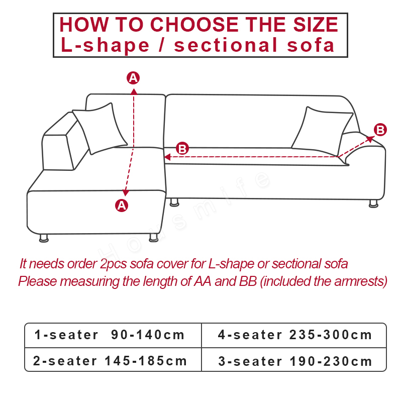 Image 3 - 1/2 pieces Geometric Couch Cover Stretch Slipcovers Set Elastic Sofa Cover for L Shaped Sectional Corner Chaise Longue SofaSofa Cover   -