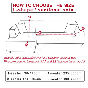 Image 2 - Solid Color Corner Sofa Covers for Living Room Elastic Spandex Sectional Slipcovers Couch Cover Stretch Sofa Towel