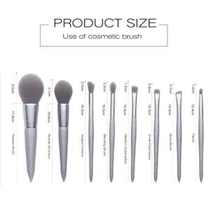 Image 5 - Jessup escova de maquiagem beleza brilhante festa kits compõem escovas pó blush mistura contorno sombra lápis