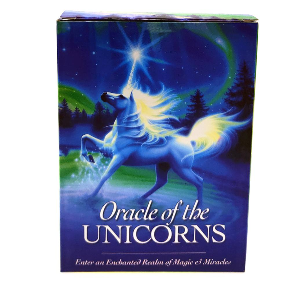 44cards/pack Hot Full English Unicorn Oracle Cards Deck Mysterious Tarot Cards Guidance -divination Fate Board Game Toy