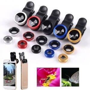 Lentes Camera-Lens Phone-Lens-Kit Zoom Macro Fisheye Wide-Angle Samsung for XS