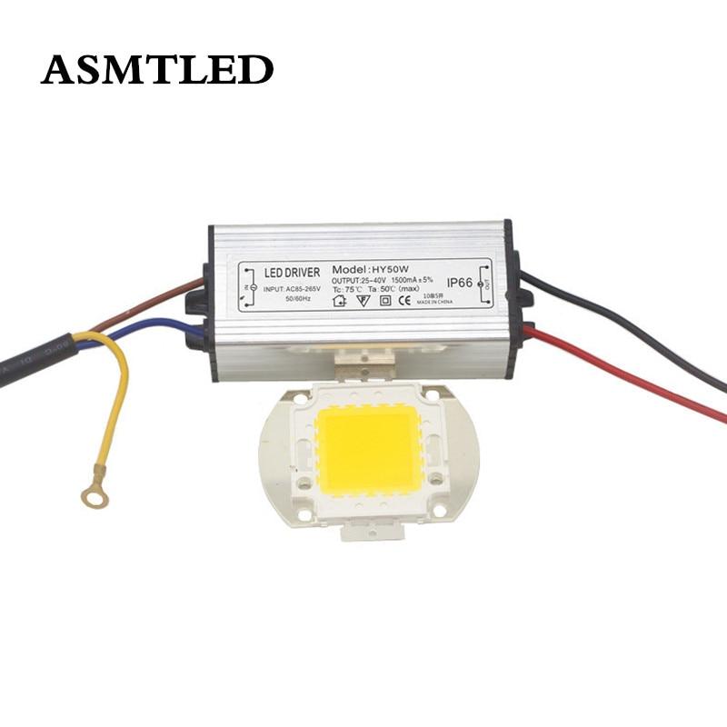 Reale Volle Watt 10W 20W 30W 50W 100W High Power COB LED lampe Chips Birne + wasserdichte Led-treiber Für DIY Flutlicht Spot licht