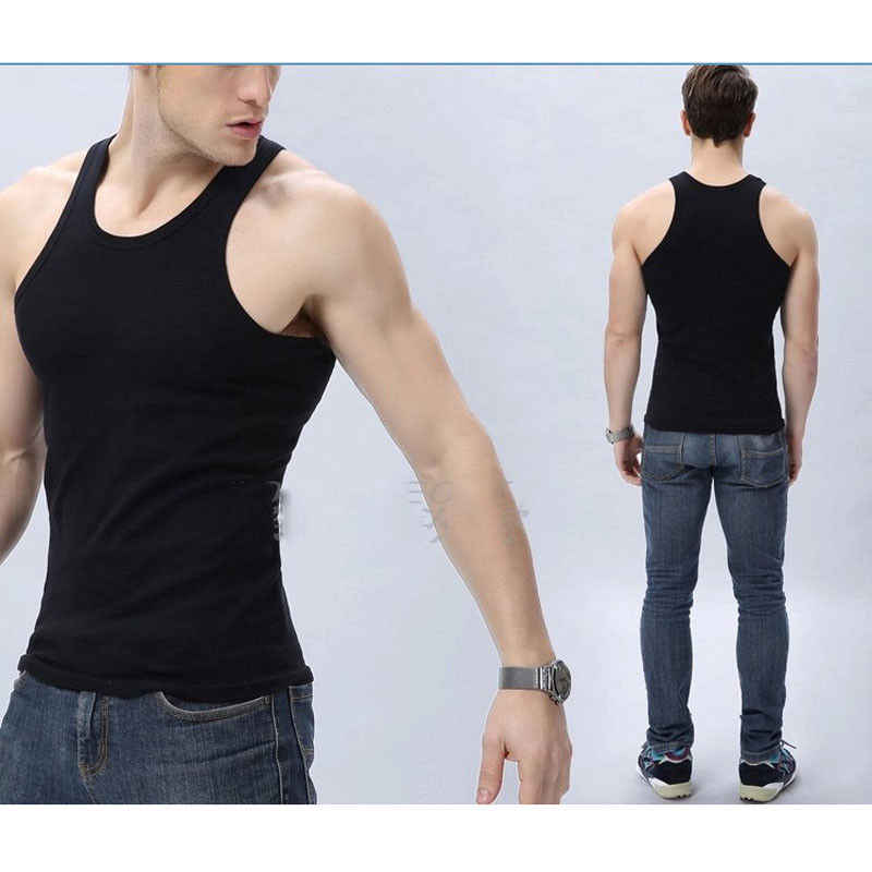 Musim Panas Solid Mens Tank Top Otot Tanpa Lengan Baju Olahraga Jogging Kebugaran Bernapas Rompi Kaus Dalam Ukuran