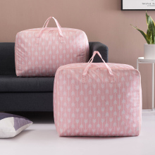 Nordic Style Waterproof Foldable Storage Bags Quilted Blanket Clothes Bag Big Size Oxford Fabric Travel Luggage Organizer Bag