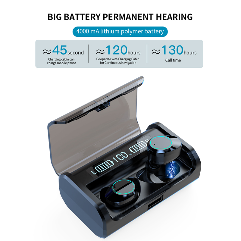 G06 Bluetooth Earphone TWS Stereo Business Bluetooth Headset Wireless LED Power Display Earbuds With 4000mAh Charge Box