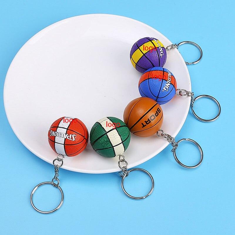 Брелок для ключей в виде баскетбола, модный подарок с имитацией кольца, креативный сувенирный подарок для влюбленных