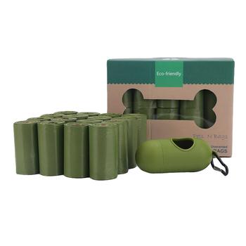 Rozkładalny woreczek na zwierzęce odchody przenośny worek na śmieci biodegradowalne torebki na odchody psów artykuły do chodzenia dla psów dozownik Pick-up zaokrąglony dla kota tanie i dobre opinie KIMHOME PET Pooper Scoopers i Torby CN (pochodzenie) PZI207TI Pet Poop Bag starch-based biodegradable material