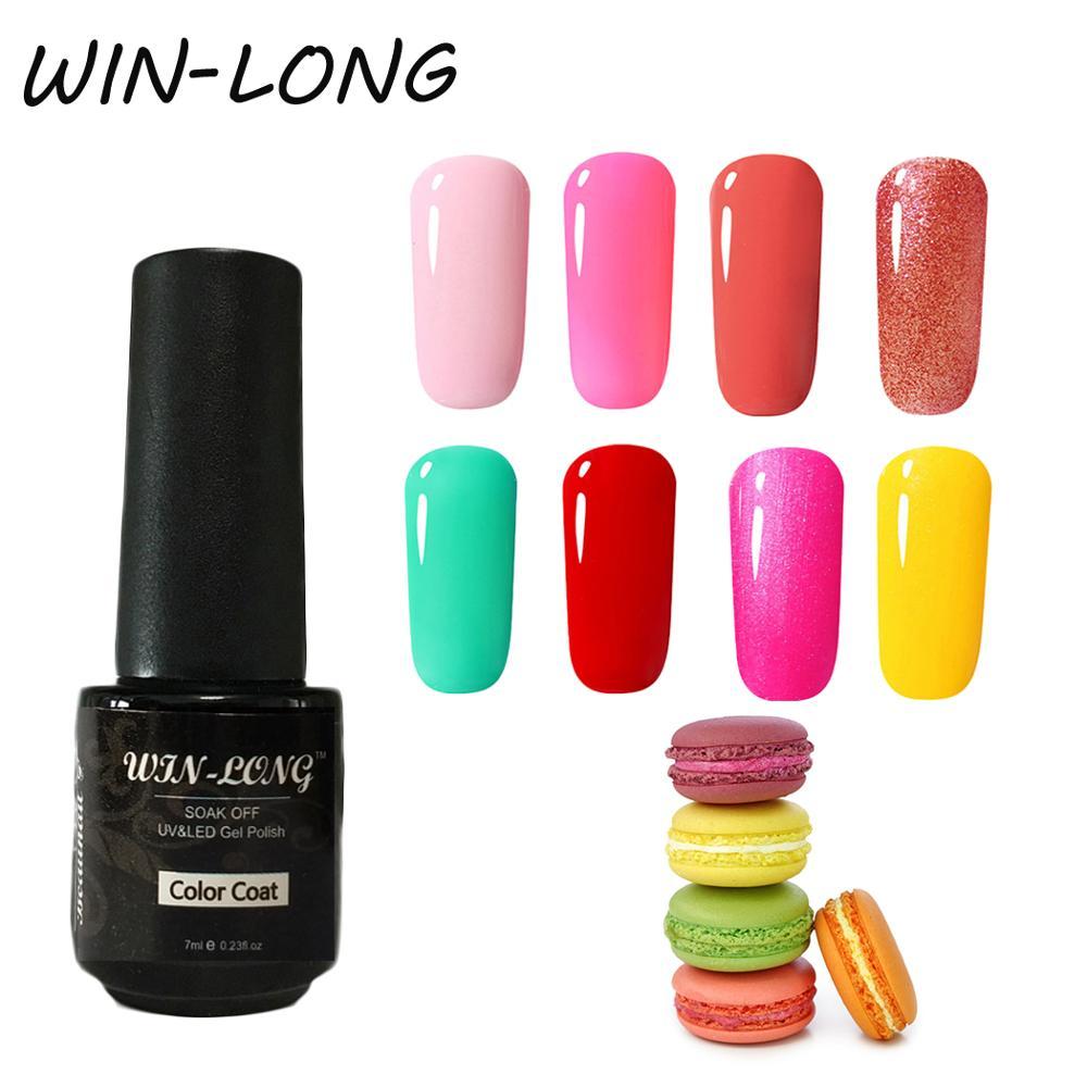 Гель лак win long для ногтей цветной УФ гель отмачиваемый 7