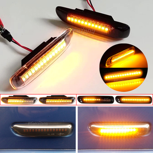 Image 2 - 2pcs דינמי Led צד מרקר אור רכב זורם סדרתית הפעל אות אור עבור BMW 3 סדרת E46 1998 1999 2000 2001 2002 2003